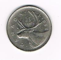 //  CANADA  25 CENTS 1968 - Canada