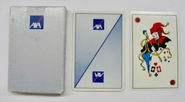 JEU DE 32 CARTES + 1 JOKER AVEC ETUI AXA / CARTES A JOUER HERON MADE IN FRANCE 33700 MERIGNAC - Cartes à Jouer Classiques