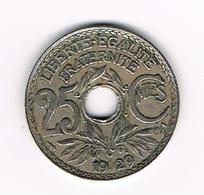 //  FRANKRIJK  25 CENTIMES  1929 - F. 25 Centimes