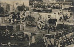 Ansichtskarte Wien: Festzug Am 22.7.1925 Mit 7 Abbildungen, Wien 11.8.1925  - Postcards