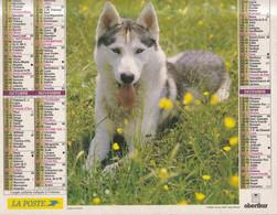 Calendrier Des Postes PTT 1998, SOMME, Bergers Allemands, Husky De Sibérie, 2 Photos Sur Carton Souple - Calendriers