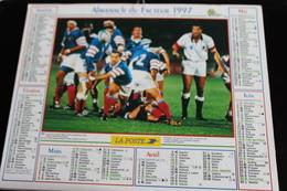 Calendrier Des Postes PTT 1997, SOMME,Coupe Du Monde De Rugby, Football équipe De F, 2 Photos Sur Carton Souple - Calendriers