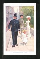 Künstler-AK Sign. E. Ibbetson: Londoner Polizist Bringt Ein Verloren Gegangenes Mädchen Wieder Nach Hause - Illustrators & Photographers