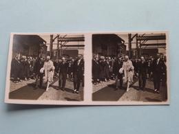 HOBOKEN 3 Augustus 1929 H.K.H. Prinses ASTRID ( Série N° 2 ) ANTWERP Stéréo ( Zie / Voir Photo Pour Detail ) ! - Photos Stéréoscopiques