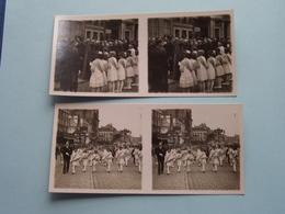 ANTWERPEN 30 Juni 1929 > Parochilae Scholen ( Série N° 2 ) ANTWERP Stéréo ( Zie / Voir Photo Pour Detail ) ! - Photos Stéréoscopiques