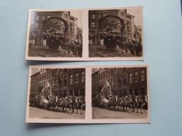ANTWERPEN Stadsommegang / Rubensfeesten 1927 ( Série N° 4 ) ANTWERP Stéréo ( Zie / Voir Photo Pour Detail ) ! - Photos Stéréoscopiques