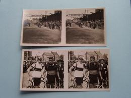 BRASSCHAET 3 Sept 1929 - Wegkampioenschap Van België ( Série N° 3 ) ANTWERP Stéréo ( Zie / Voir Photo Pour Detail ) ! - Photos Stéréoscopiques