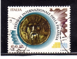 ITALIA REPUBBLICA ITALY REPUBLIC 2008 FESTIVAL DELLA FILATELIA 2009 € 0,85 BOCCA DELLA VERITA' USATO USED OBLITERE' - 6. 1946-.. Repubblica