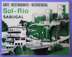 HOTEL PENSAO RESIDENCIAL PENSION SOL RIO SABUGAL DECAL STICKER LUGGAGE LABEL ETIQUETTE AUFKLEBER PORTUGAL - Etiketten Van Hotels
