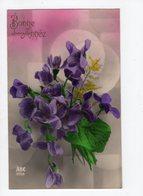 1625 - BONNE ANNEE  - Violettes - Nieuwjaar