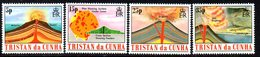 Tristan Da Cunha QEII 1982 Volcanoes Set Of 4, MNH, SG 337/40 - Tristan Da Cunha