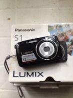 PANASONIC S1 LUMIX 12 MP DIGITALE ALIMENTATORE BATTERIA SCATOLO FUNZIONANTE G5 - Cameras