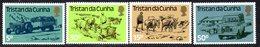 Tristan Da Cunha QEII 1983 Land Transport Set Of 4, MNH, SG 345/8 - Tristan Da Cunha