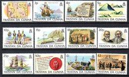 Tristan Da Cunha QEII 1983 Island History Definitives Set Of 12, MNH, SG 349/60 - Tristan Da Cunha