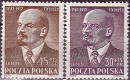 1952 Poland Mi 781 - 782,  I. Lenin, Communism, Politician. MNH** - 1944-.... República