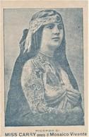 Postcard Circus Cpa Cirque MISS CARRY MOSAICO VIVENTE TATTOO WOMAN - Circus