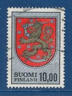 Finnland 10,00 M. Gest. Wappen Löwe - Briefmarken