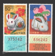 Japon - Japan 2010 Yvert 5274+5276, New Year, Rabbit Lunar Year - MNH - Unused Stamps