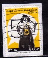 ITALIA REPUBBLICA ITALY REPUBLIC 2016 COMICS IN LUCCA € 0,95 USATO USED OBLITERE' - 6. 1946-.. Repubblica