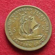 British Caribbean Territories 5 Cents 1965 KM# 4 Caraibas Caraibes Orientales - Oost-Caribische Staten