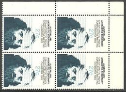AUSTRALIA AAT ANTARCTIC TERRITORY 1983 TREATY SCIENTIST BLOCK OF 4 SET MNH - Ungebraucht
