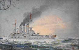 CPA. - Bateaux > Guerre > MARINE De GUERRE , Le SMS Braunschweig Est Un Cuirassé Pré-dreadnougth - Daté 1906 - TBE - Oorlog