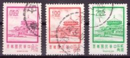 Taiwan 1971 - Oblitéré - Bâtiments - Michel Nr. 813-814 817 (tpe699) - Gebraucht