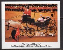 Tristan Da Cunha QEII 1985 Life & Times Of The Queen Mother MS, MNH, SG 394 - Tristan Da Cunha