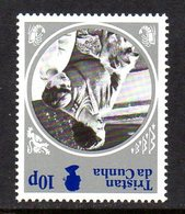 Tristan Da Cunha QEII 1985 Life & Times Of The Queen Mother 10p Value, Watermark Inverted, MNH, SG 390w - Tristan Da Cunha