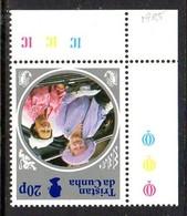 Tristan Da Cunha QEII 1985 Life & Times Of The Queen Mother 20p Value, Watermark Inverted, MNH, SG 391w - Tristan Da Cunha