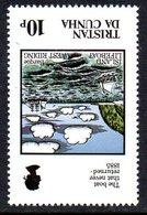 Tristan Da Cunha 1985 Loss Of Island Lifeboat 10p Value, Watermark Inverted, MNH, SG 399w - Tristan Da Cunha
