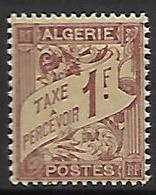 ALGERIE     -   Timbre-Taxe   -   1926 .    Y&T N° 9 ** - Algeria (1924-1962)