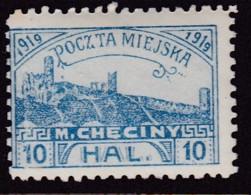 POLAND 1919 Checiny 10 HAL Mint Hinged Perf - Polen