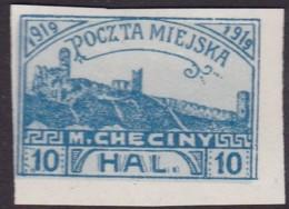 POLAND 1919 Checiny 10 HAL Mint Imperf - Non Classés