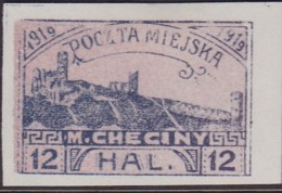 POLAND 1919 Checiny 12 HAL Mint Imperf - Polen
