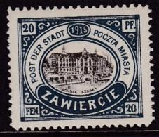 POLAND 1916 Zawiercie Fi 2III Mint Hinged - Poland