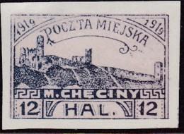 POLAND 1919 Checiny 12 HAL Mint Imperf - Non Classés