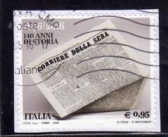 ITALIA REPUBBLICA ITALY REPUBLIC 2016 QUOTIDIANO IL CORRIERE DELLA SERA USATO USED OBLITERE' - 6. 1946-.. Repubblica