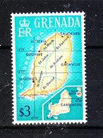 """Grenada   - 1966. Dalla Serie Ordinaria  """"carta Geografica """". From The Ordinary Series """"Map"""". MNH - Geografia"""