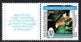 Tristan Da Cunha 1986 Royal Wedding 10p Value, Watermark Inverted, MNH, SG 415w - Tristan Da Cunha