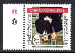 Tristan Da Cunha 1986 Royal Wedding 40p Value, Watermark Inverted, MNH, SG 416w - Tristan Da Cunha