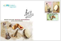 TURKEY/2019 - (FDC) MUSICAL INSTRUMENTS, MNH - Nuevos