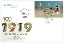 TURKEY/2019 - (FDC) 100th YEAR OF NATIONAL STRUGGLE (ATATURK, WWI), MNH - Nuevos