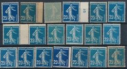 CX-185: FRANCE: Lot Avec Semeuses Camées Avec  N°140**type 1A  (teintes Et Types, Papiers Et Petites Variétés) - 1906-38 Semeuse Camée