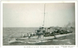 BATEAUX.CARTE PHOTO DE MARIUS BAR.N°16851.SARBACANE TORPILLEUR.1906 - Guerra