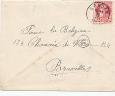 673/29 --  Enveloppe TP 74 Grosse Barbe LANDEN 1911 Vers BXL - COBA T2 R - 1905 Breiter Bart