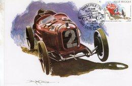 Belgique  -  Alfa Romeo P2 Grand Prix 1925  -  Artiste: Benoit Deliege -  Carte Maximum (Premiere Jour) - Automobile