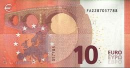 ! 10 Euro F002D2, FA2287057788, Money, Geldschein, Currency, Banknote, Billet Mario Draghi, EZB, Europaserie - EURO