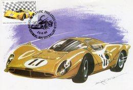 Belgique  -  Ferrari 330P (1967)  -  Artiste: Benoit Deliege -  Carte Maximum (Premiere Jour) - Automobile