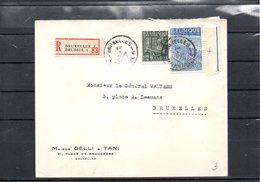 BELGIUM - EXPORTATION - RECOM BRUXELLES 1950  - UN2 - 1948 Export